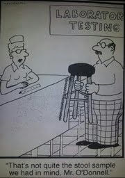 Stool Sample Cartoon